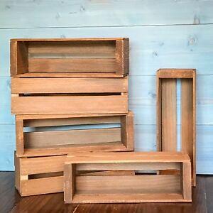 Details About Wood Slat Crates