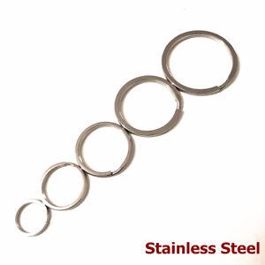 Stainless-Steel-Solid-Split-Key-Rings-Flat-Keyring-Strong-Loop-Keychain-15-35MM