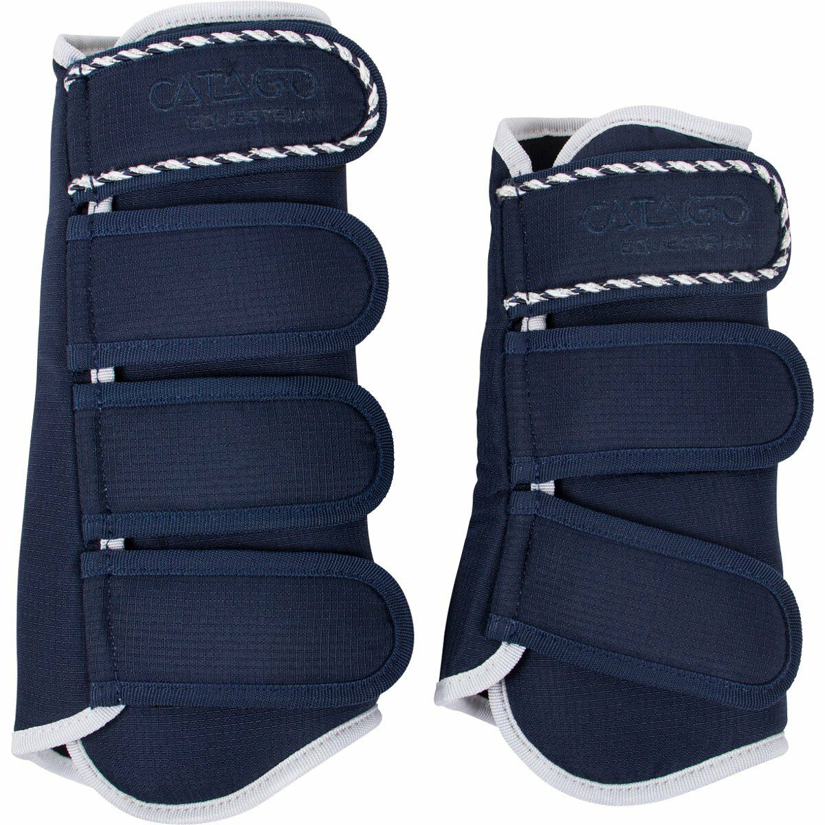 CATAGO Gaiters Diamond-Navy Pony Leg Prougeection Horse Riding Leg Support