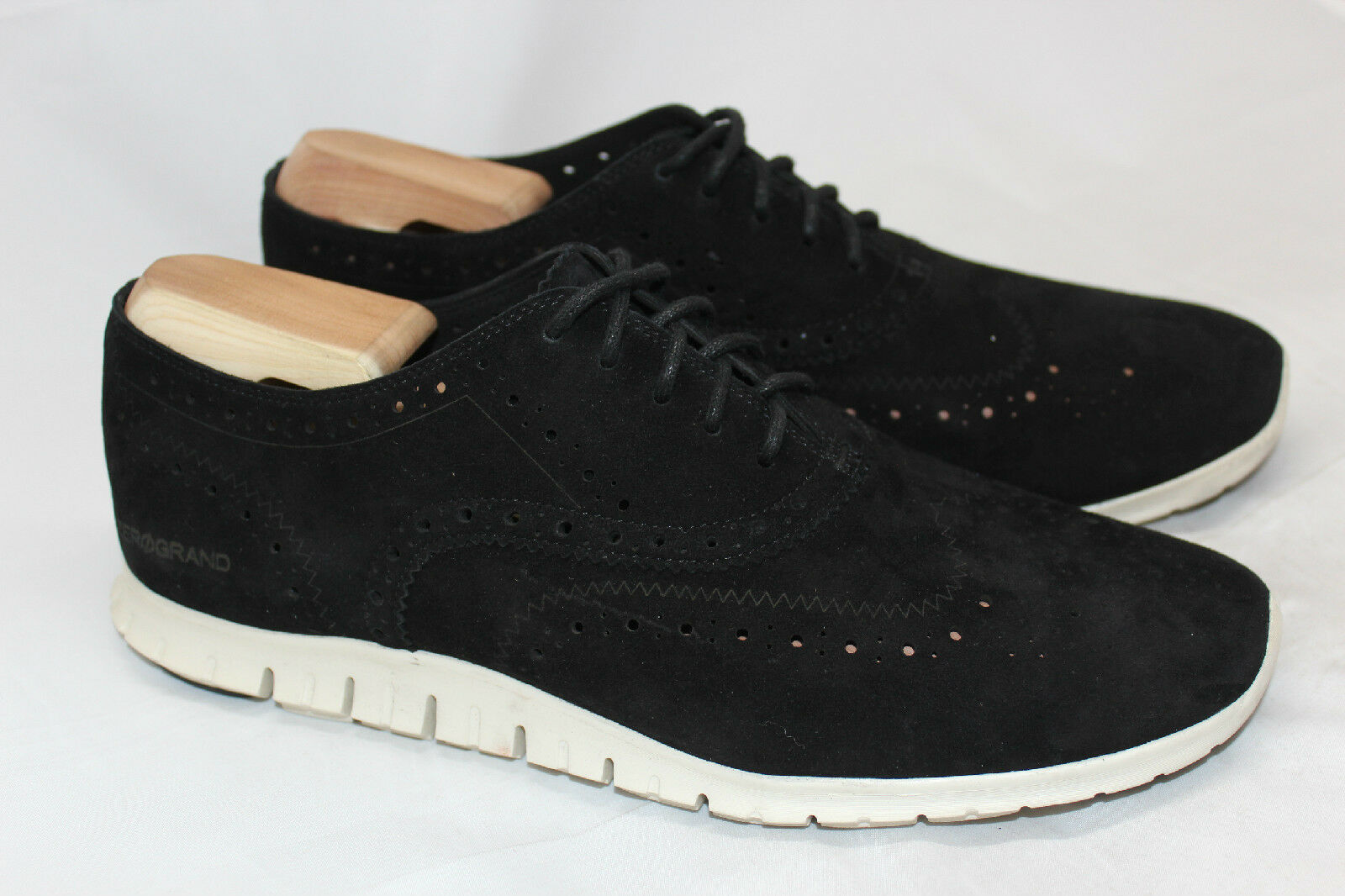 Womens Cole Haan ZeroGrand Wing Oxford - Black Suede - Size 11 B - D44060 (R87)