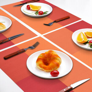 Placemats-PVC-Washable-Heat-Resistant-Table-Mats-Woven-Red-11-8-034-x11-8-034-Set-of-6