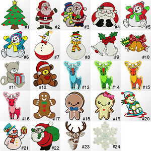 309IR-Christmas-Xmas-Craft-Holiday-Embroidered-Sew-Iron-on-Motif-Patch-Applique