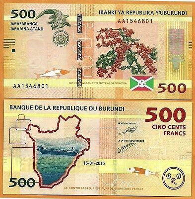 P- 52 Paper Bill 2000 2,000 Francs // Amafaranga Banknote UNC Burundi 2015