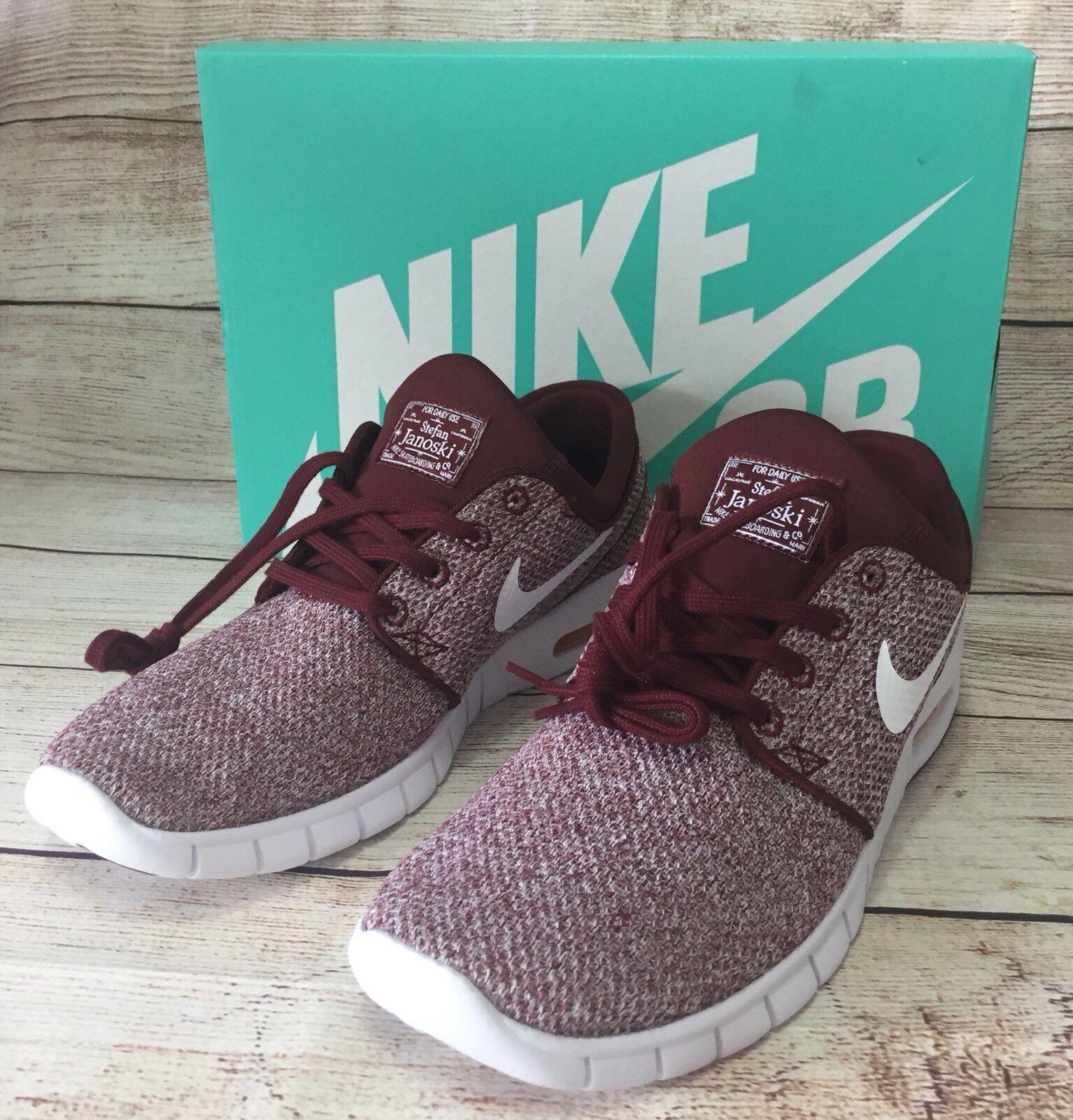 e531d53001c7f6 Nike SB Stefan Janoski Max Mens Size 10 Skateboarding Shoe Shoe Shoe  Burgundy 631303-618 b91318