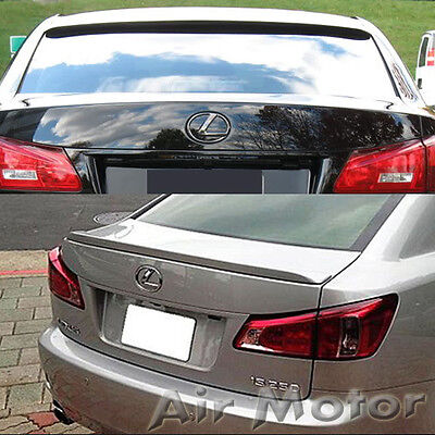 Painted Color Fit FOR Lexus IS250 IS350 Sedan IS F Type Rear Boot Trunk Spoiler