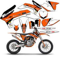 2008-2010 Ktm Exc Xcf 125 250 300 450 530 Graphics Set Deco Decals Stickers 2009