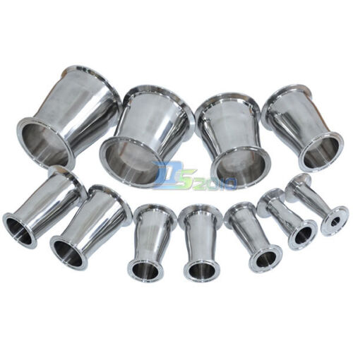 """76MM to51MM  3/"""" to 2"""" Sanitary Ferrule Reducer Fitting SS316 to Tri Clamp NEW"""