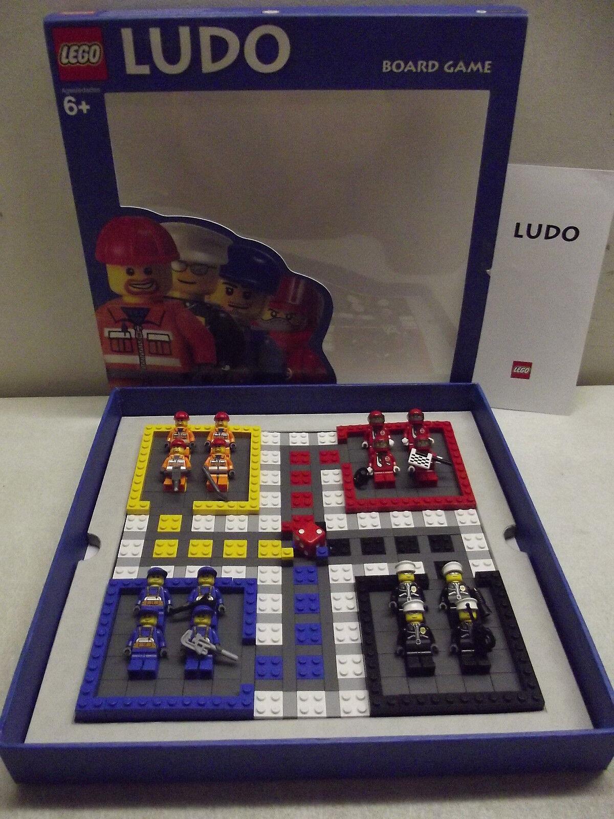 LEGO LUDO BOARD GAME COMPLETE W 16 MINIFIGS MINI FIGS FIGURES