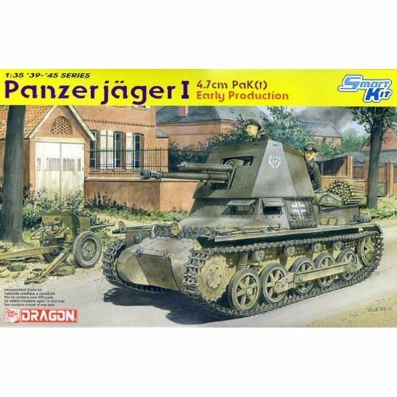 Dragon 6258 4.7 cm Panzerjager I Early Production 1 35 scale plastic model kit