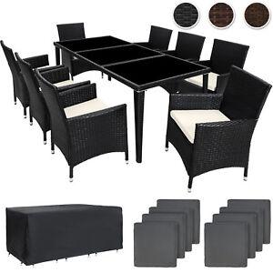 Détails sur Ensemble salon de jardin en aluminium résine tressée poly rotin  set table neuf