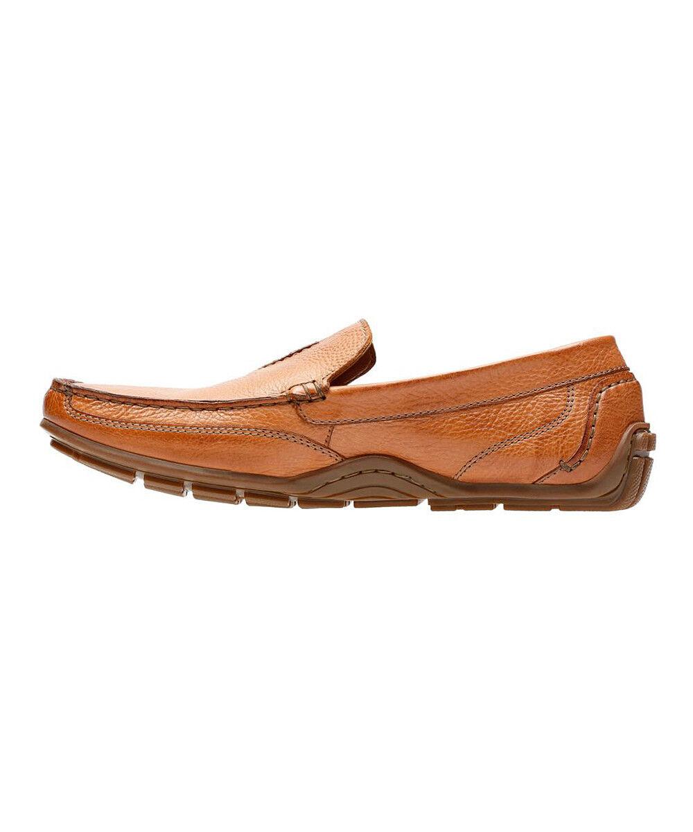 NUOVO da UOMO Clarks Clarks Clarks Marronee Mocassini Slip On pelle Casual scarpe Benero Race | Elegante E Robusto Pacchetto  1d9652