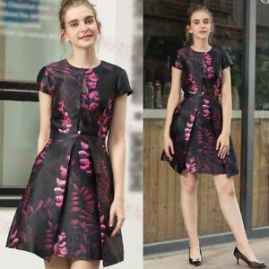Details About New Ted Baker Jebby Splendour Jacquard Ruffle Dress