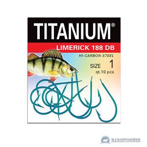 ROBINSON-TITANIUM-LIMERICK-188DB-BARSCH-HAKEN-MIT-PLATTCHEN-ANGELHAKEN-LOSE-HOOK