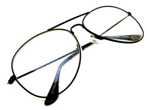 Herren Klassisch Vintage 80s Retro Stil Klar Gläser Brillen Schwarz Mode Rahmen