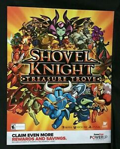 """Shovel Knight Treasure Trove Poster 28"""" x 22"""" Gamestop Exclusive Promo Poster"""
