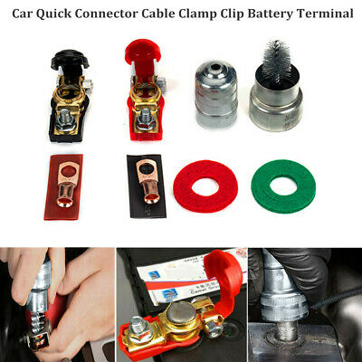 Battery Terminal Clamp Clips Connector Battery Cable Terminal Connectors Battery Accessories for Boat Race Car Tractor Truck