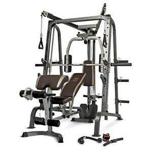 Marcy Deluxe Diamond Elite Smith Cage Home Workout Machine Total Body Gym System