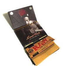 Wiz Khalifa Original RAW Classic Rolling Paper Loud Pack 1 1/4 Trays Paper Tips!