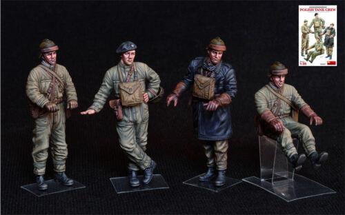 Polish tank crew kit 1:35 figure militari scala miniart