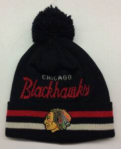 c4d352f6443 Image is loading Chicago-Blackhawks-Adidas-NHL-Knit-Hat-Beanie-Stocking-