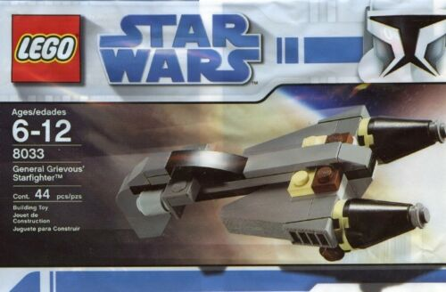 Lego Star Wars General Grievous/' Starfighter 8033 Polybag BNIP