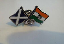 SCOTLAND INDIA  BADGE CROSS FLAGS