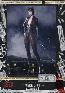 Catwoman-Gotham-SEXY-Dark-City-Var-A3-Comic-Print-Batman-Selina-Kyle-DC-Harley