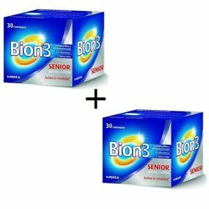 Bion-3-50-Seniors-Probiotics-12-Vitamines-30-Casquette-X-2-Lot-60-Casquette-Free