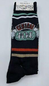 Friends TV Series Men's Socks 2 Pair Size 6-12 Central Perk Logo Crew Socks A4