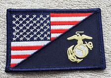 UNITED STATES MARINE CORPS FLAG PATCH Embroidered Badge 5 x 7.6cm American USMC