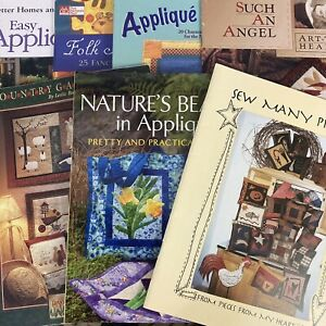 Lot of 7 Applique Quilt Books Animals Flowers Nature Baby Folk Holidays & More