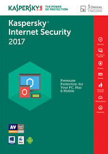 KASPERSKY INTERNET SECURITY 2017 5PC/1YEAR | DOWNLOAD | NO CD | MULTI LANGUAGES