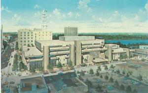 Orlando Florida Public Library Artist Rendition Vintage 1980's Souvenir Postcard