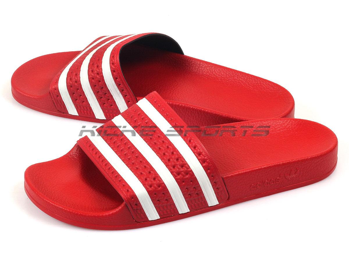Adidas Adilette Unisex Sports Slide Sandals Slippers Light Scarlet/White 288193