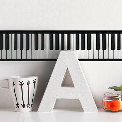 3D Black White Piano Key Adhesive Wall Sticker Musician Art Decals Home Decor Su