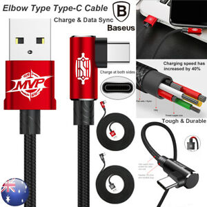 Type-C-USB-Elbow-Cable-Charger-Data-Sync-Connector-For-Samsung-Galaxy-S8-Note8