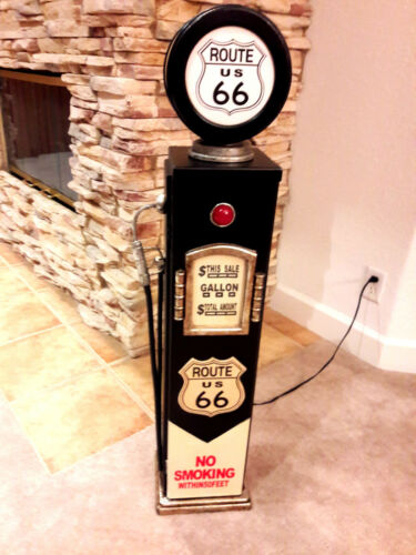 """42/"""" Route US 66 Gas Pump Cabinet with light Mancave//Gameroom."""