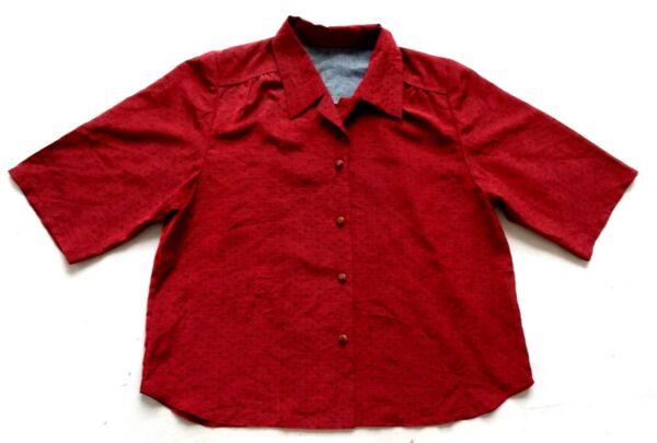 Diplomatico Donna Vintage Anni'80 Deep Pink/red Shirt Retrò 16