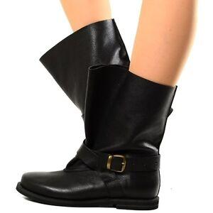 Noir 77 Souple Chaussures Boots Bottes Détails Chunky Femmes Boots Bottines Cuir sur oWQrCEdeBx