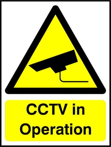Cctv en Operación, Auto Adhesivo Vinilo las puertas ventanas de advertencia signos, tienda de oficina