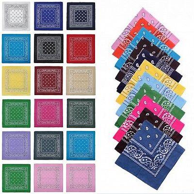 100% Cotton Paisley Bandana Bandanna Scarf Cloth Square Shape Print Trendy