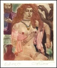 David Bekker Exlibris C4 Erotic Erotik Nude Nudo Woman 116