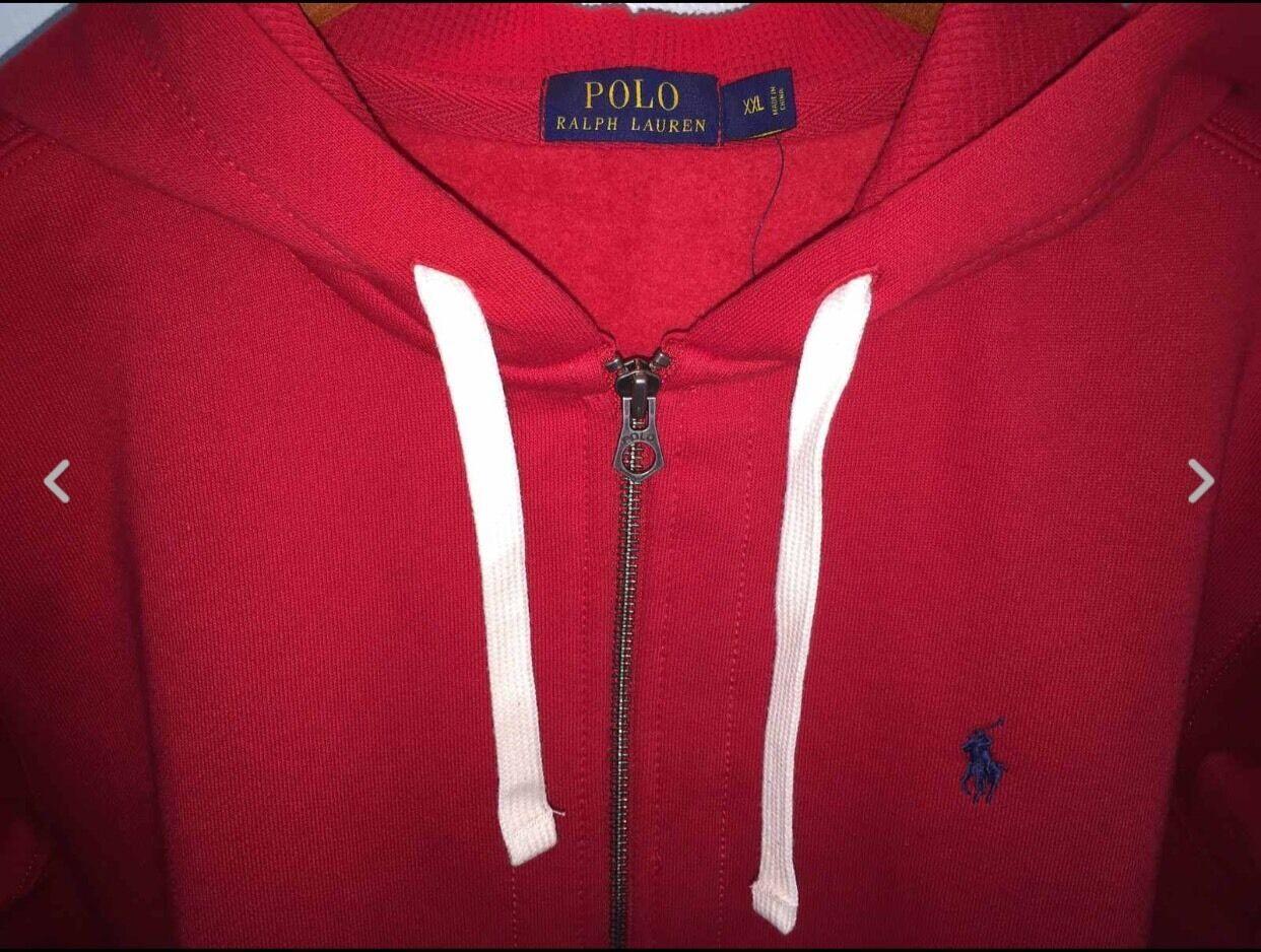 Polo  Ralph Lauren Sudadera con cremallera completa Polar 2XL Rojo Nuevo con etiquetas  el precio más bajo