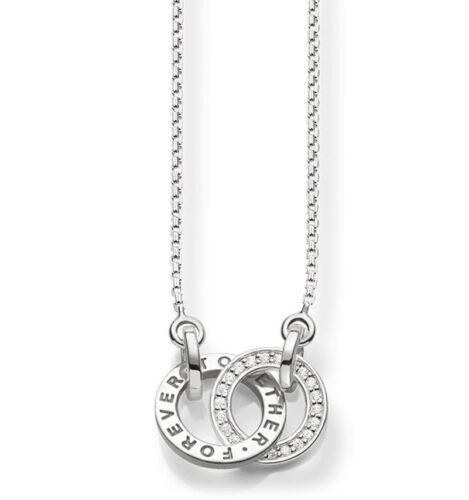 """sterlingsiilber 925// scke 150159 Thomas Sabo collar /""""Together Forever/"""""""