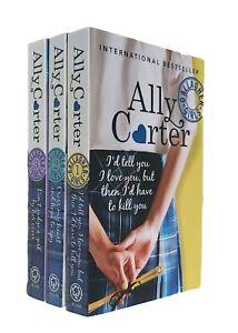 Gallagher-Girls-3-Books-Ally-Carter-1-2-3-Fiction-Fun-Teen-Cross-My-Heart-New