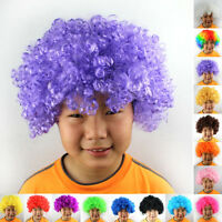 Curly Afro Fancy Dress Wigs Funky Disco Clown Mens/Ladies Costume 80s Hair Cheap