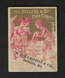 1880 Sedalia,MO - Sollers & Co.'s Fine Shoes Calendar Advertising Card