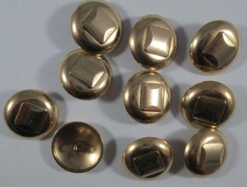 Metall  Knopf Knöpfe 10  stück gold mit lagerspuren   23  mm groß  #1543#