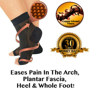 Copper-PLANTAR-FASCIITIS-Compression-Ankle-Sleeve-Heel-Foot-Pain-Relief-Socks-US