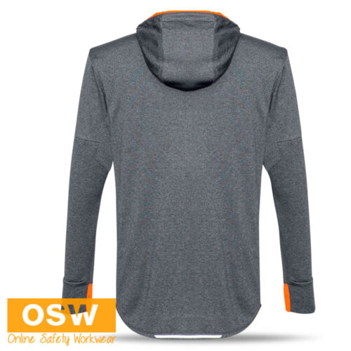 MENS ATHLETIC BREATHABLE LIGHT-WEIGHT ACTIVEWEAR GYM SWEAT-WICKING HOODIE HOODY